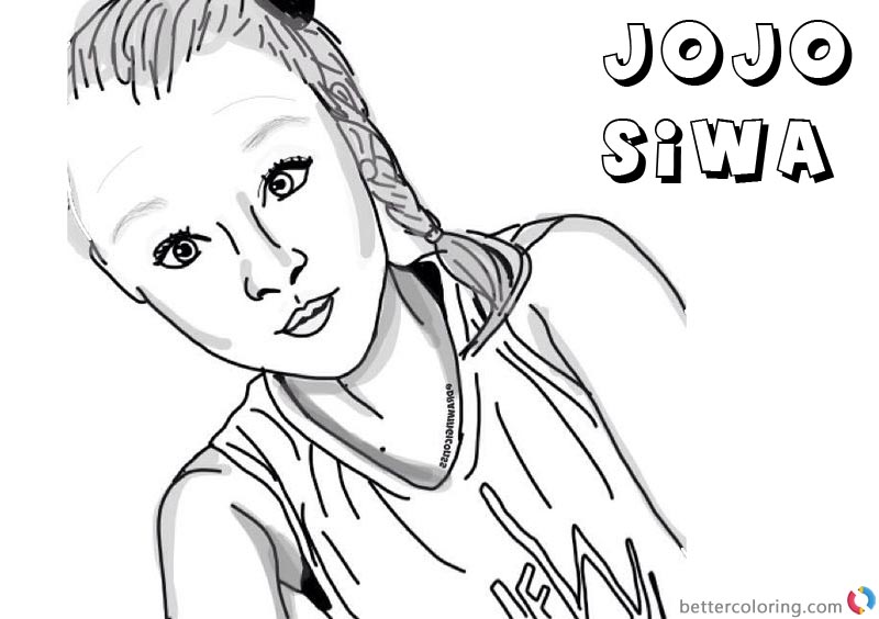 Jojo Siwa Coloring Pages By Drawingiconss Free Printable - Coloring Home