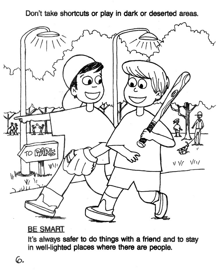 stranger danger coloring pages printables - photo#9
