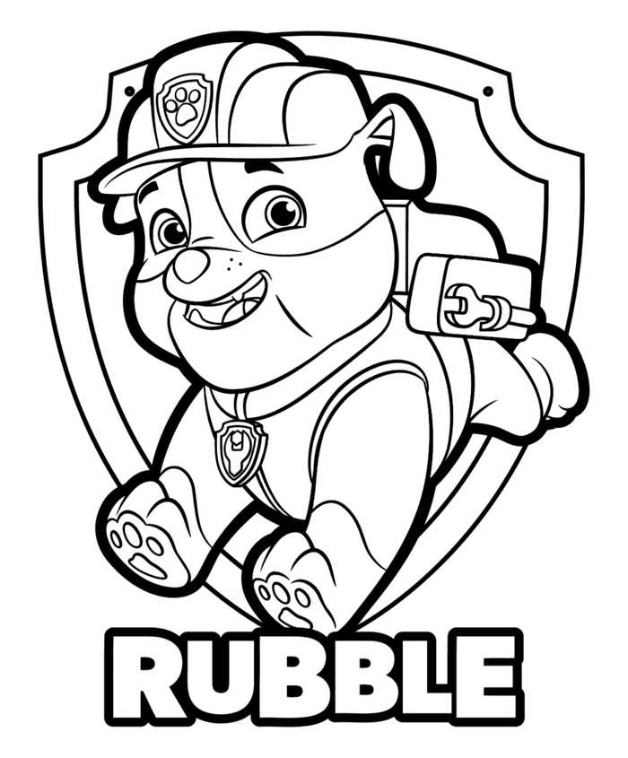 - Rubble Paw Patrol Coloring Pages - Coloring Home