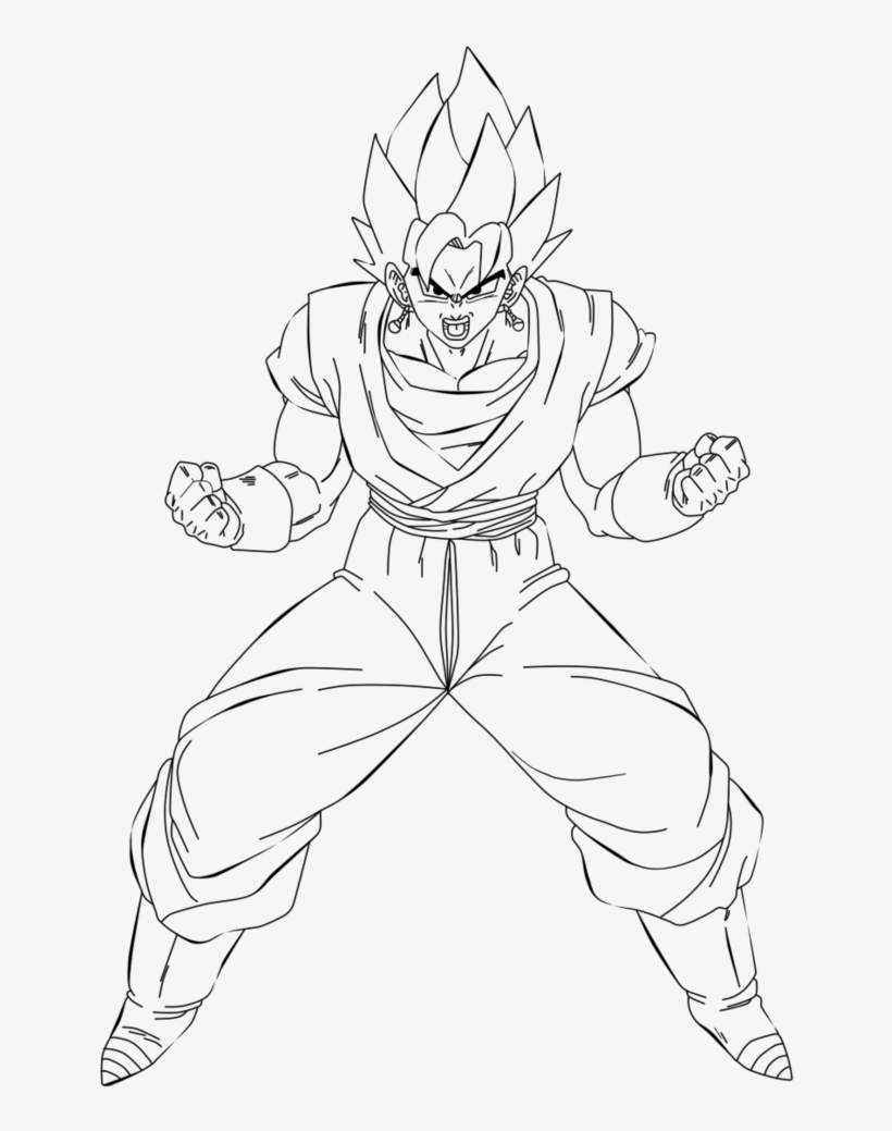 Vegito Coloring Pages Coloring Home