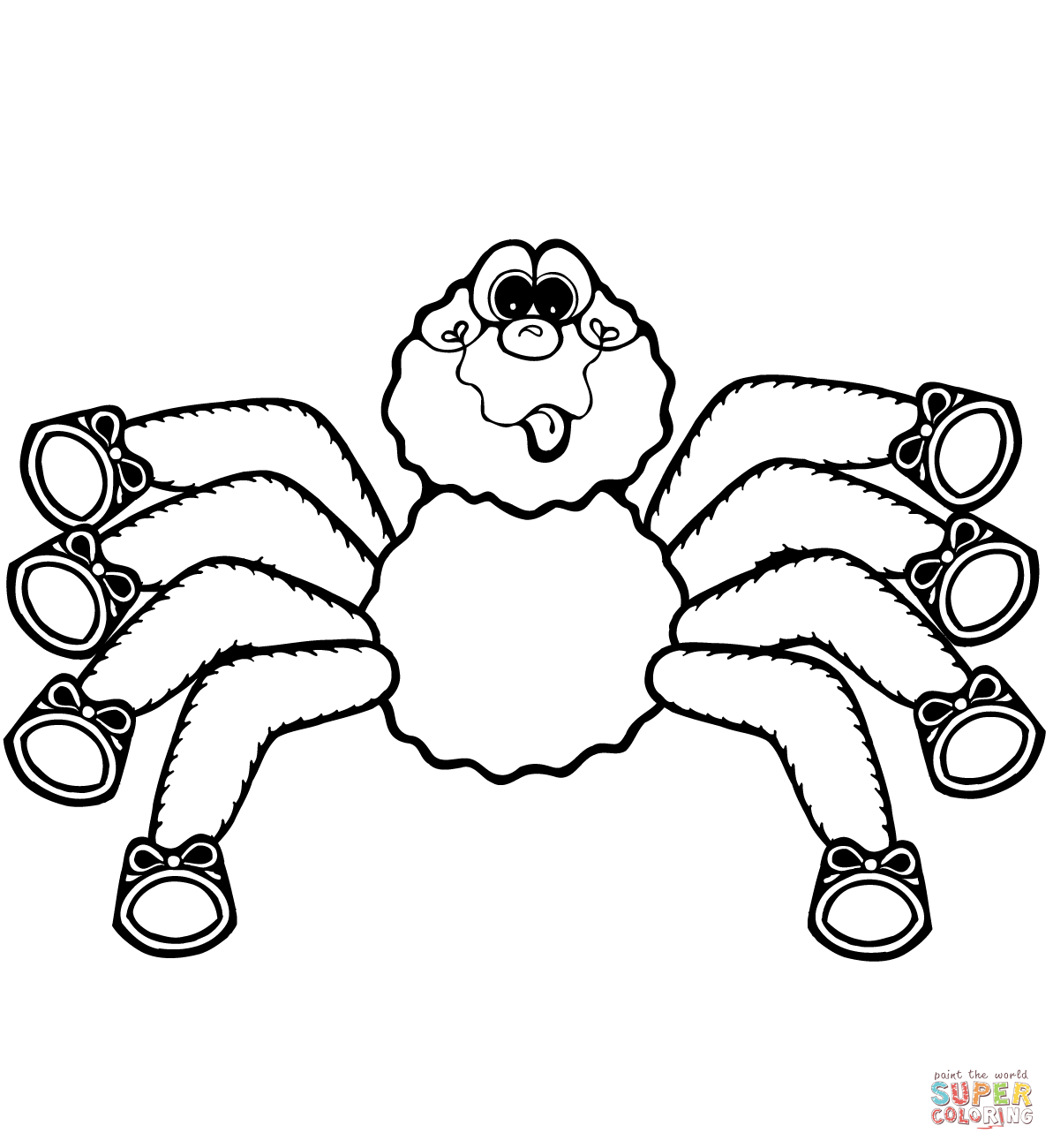 Free Spider Coloring Pages Printable, Download Free Clip Art, Free ... | 1300x1193