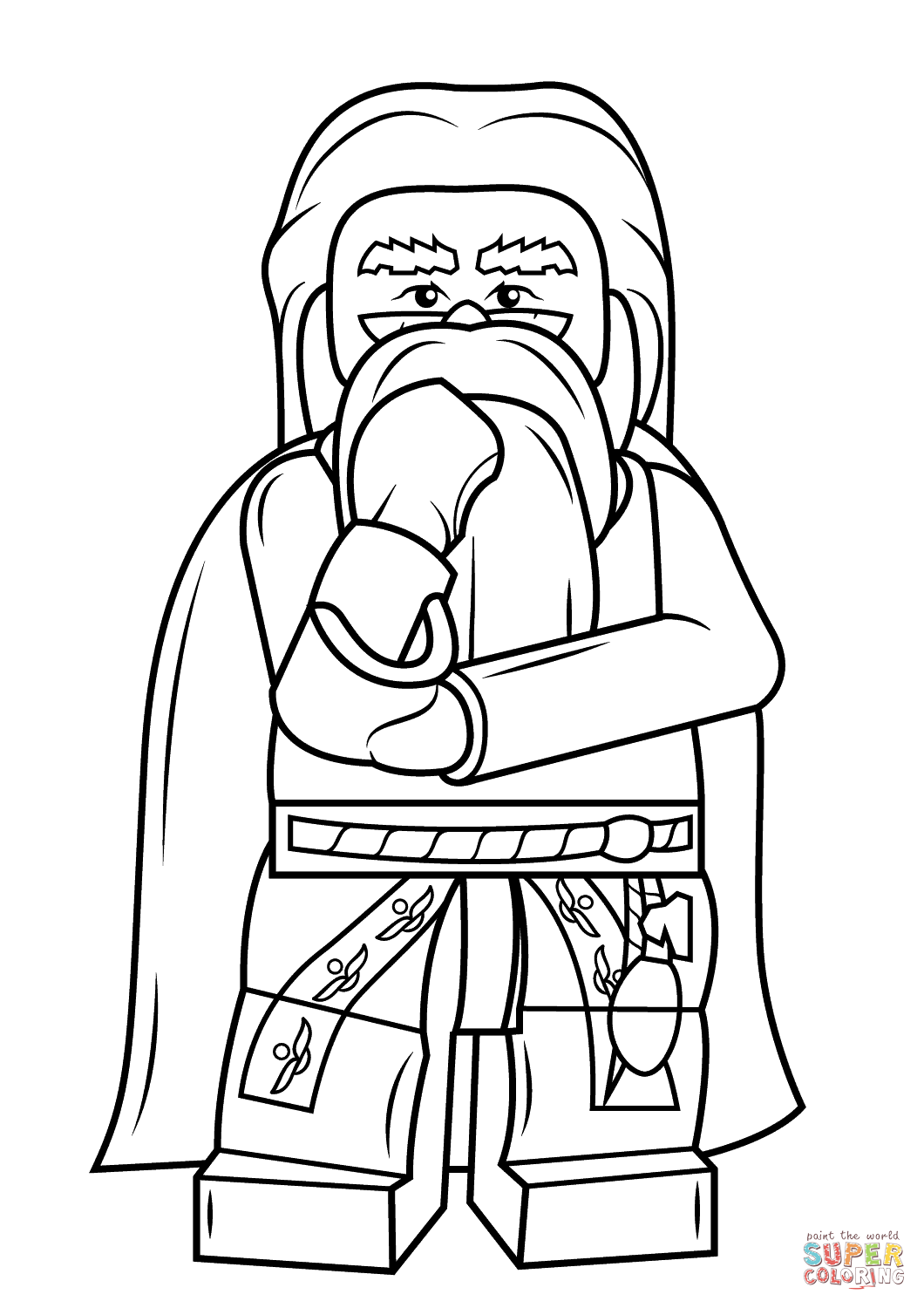 Lego Albus Dumbledore Coloring Page Free Printable Pages