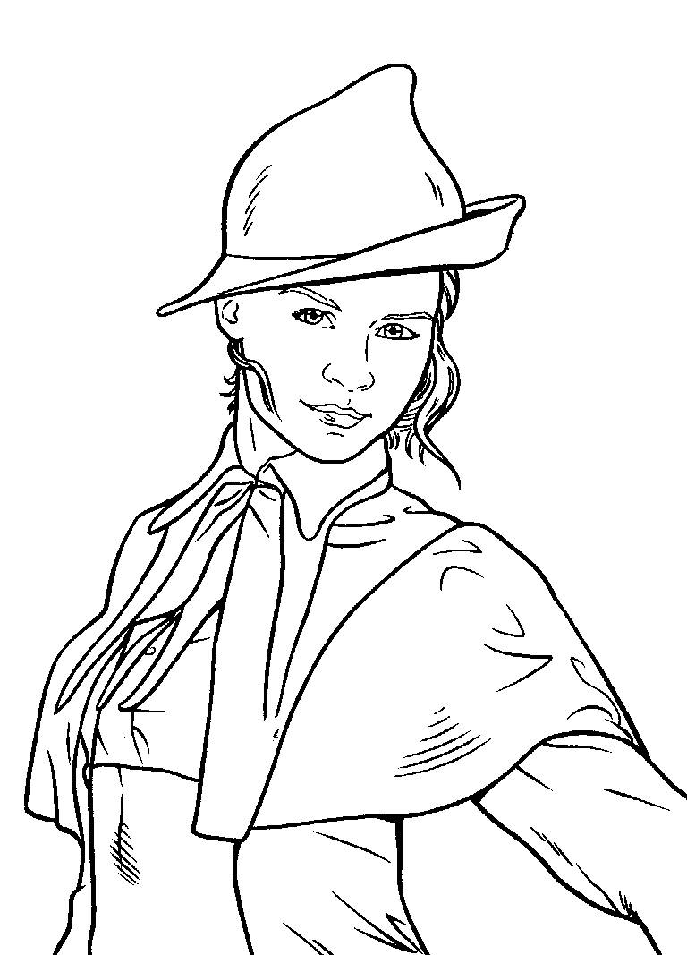 Harry Potter Ginny Coloring Page - Coloring Home