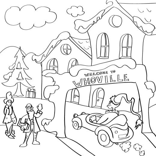 Whoville characters coloring pages coloring home for Coloring pages grinch