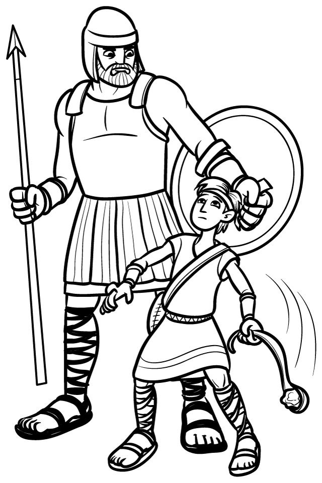 David And Goliath Coloring Pages Coloring Home David And Goliath Pictures To Color
