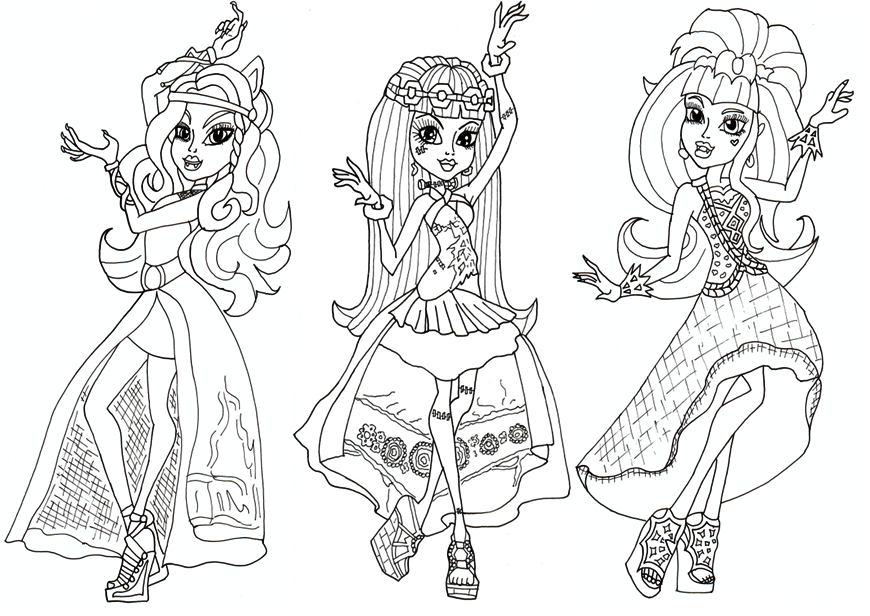 Free Printable Monster High Coloring Pages: Free 13 Wishes Haunt