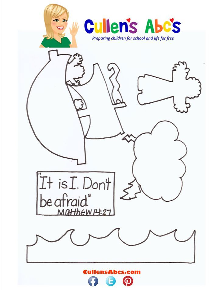 Jesus Walking On Water Coloring Page - AZ Coloring Pages