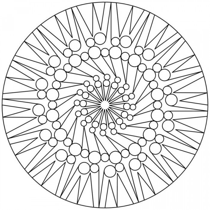 Free Coloring Pages Of Difficult Mandala
