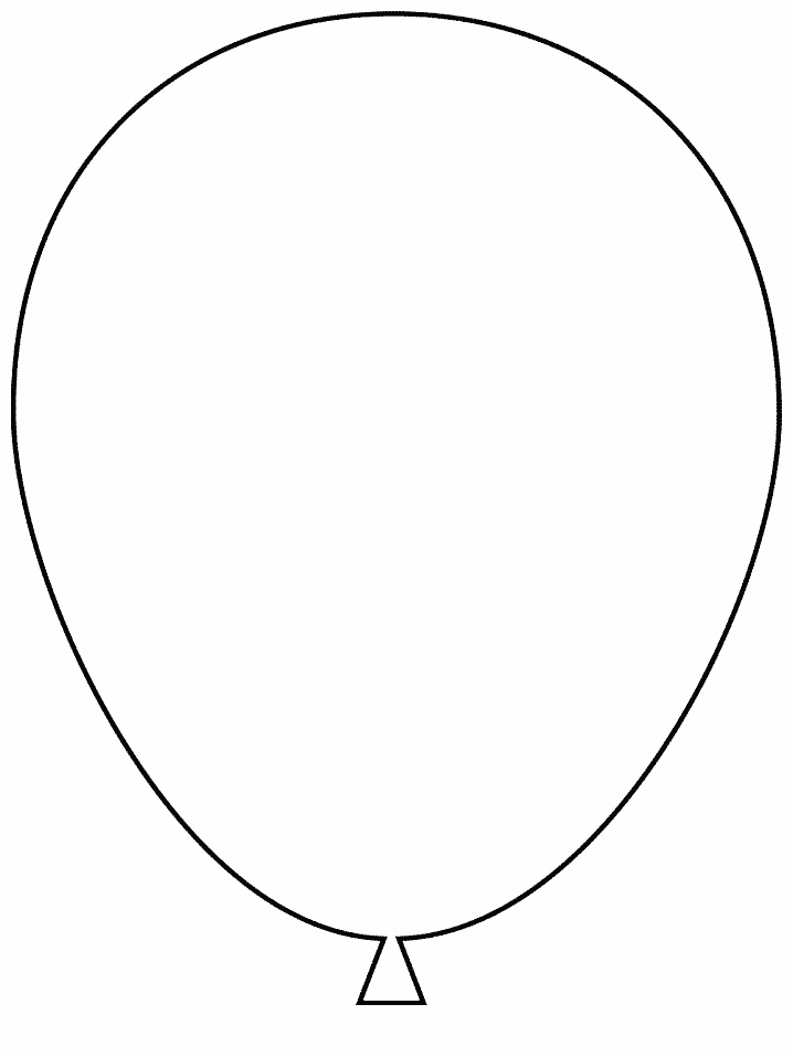 Balloon template printable az coloring pages for Balloon coloring pages