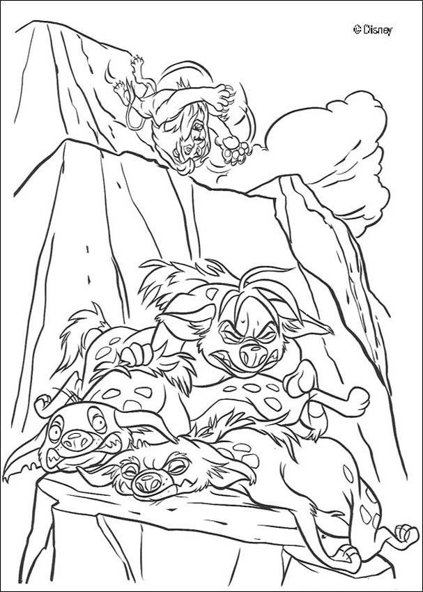 Hyena Coloring Pages  Coloring Home