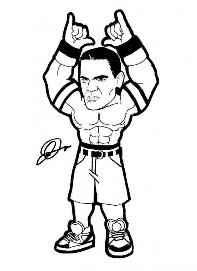 John Cena Coloring Pages Amp Pictures Imagixs Wwe