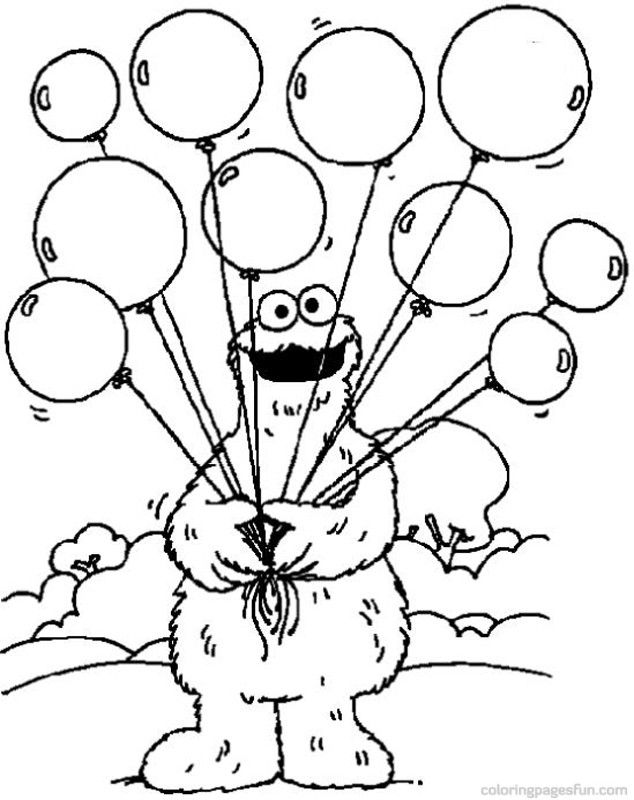 sesame street character coloring pages - photo#36