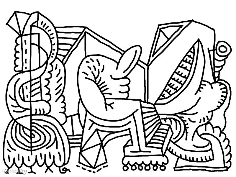 Abstract Halloween Coloring Pages : Abstract coloring pages for adults az