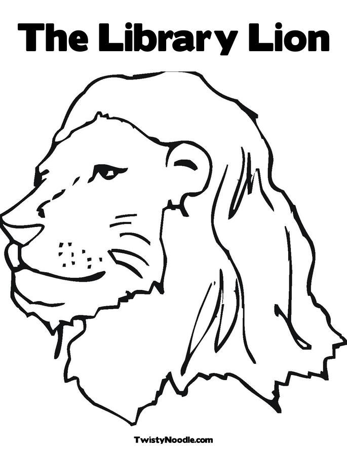 Picture of lion to color coloring home for Lion mask coloring page