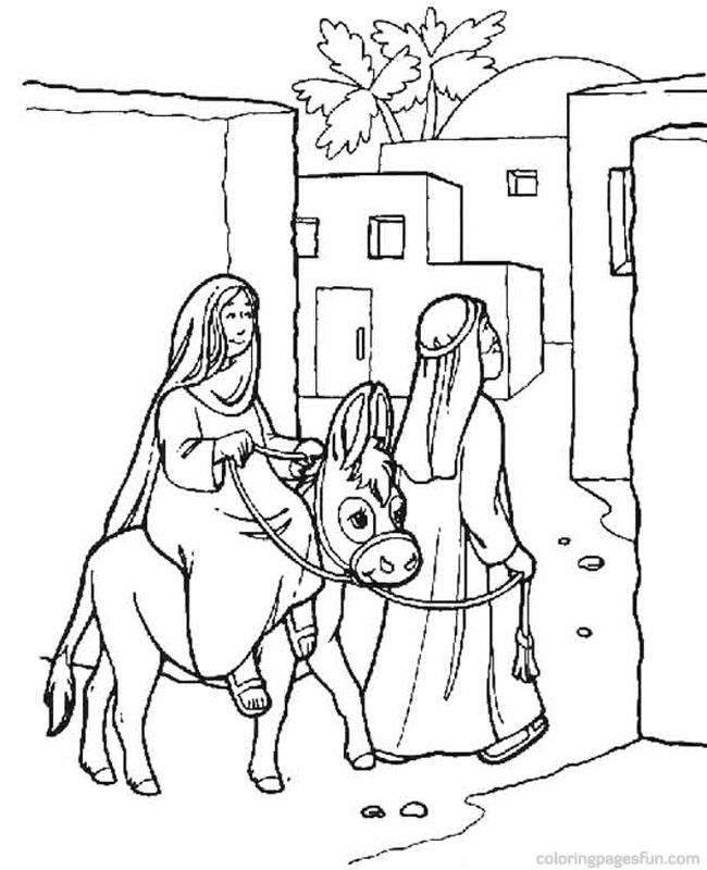 free christmas nativity coloring pages - photo#24