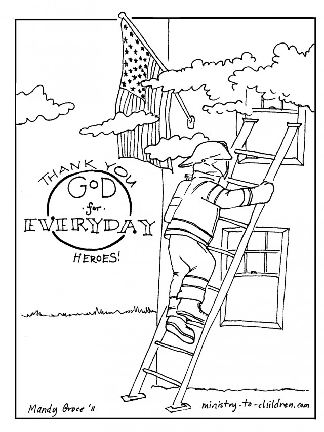 Fire station coloring pages for kids az coloring pages for Fire station coloring page