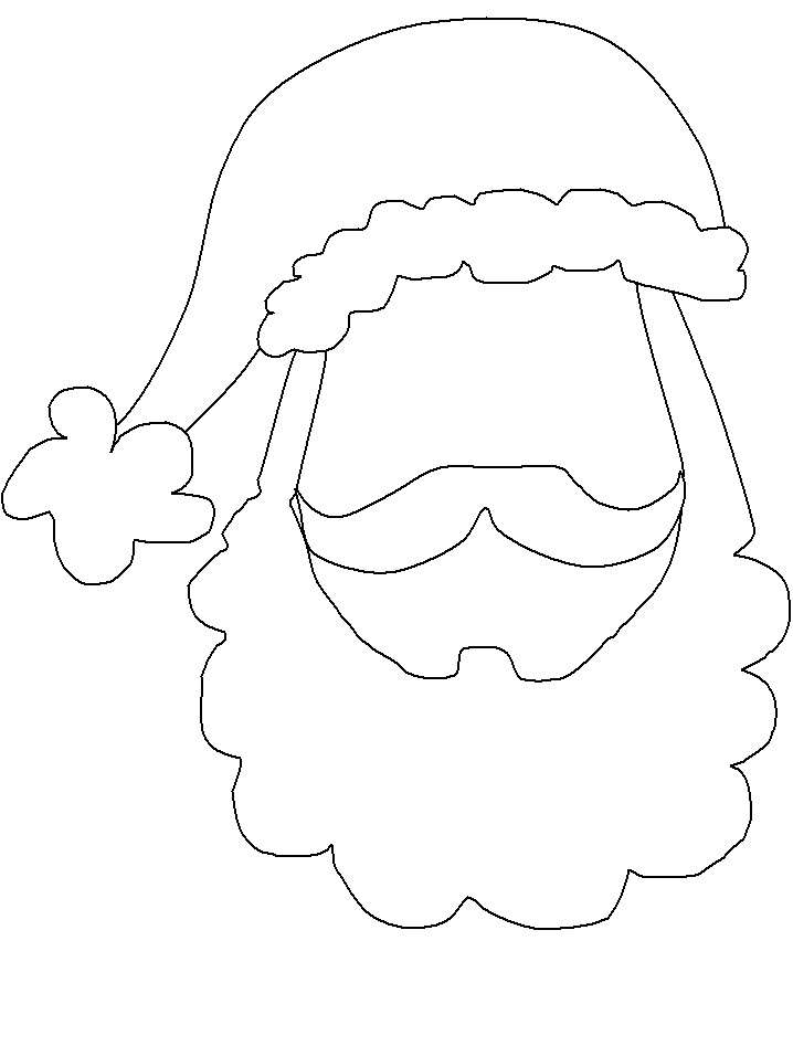 cut out coloring pages - search results for santa cut out template calendar 2015