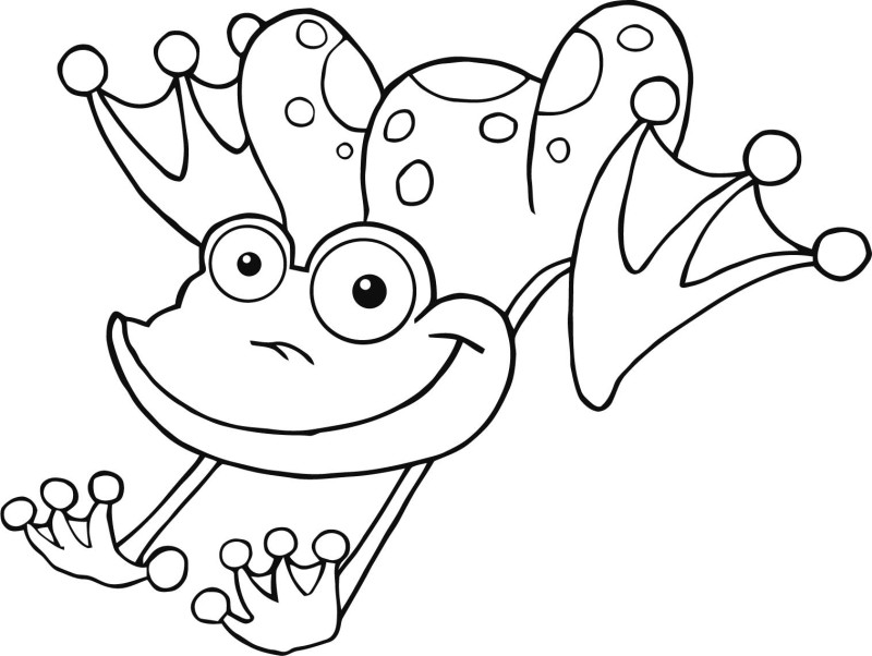 Frog color pages az coloring pages for Free printable frog coloring pages