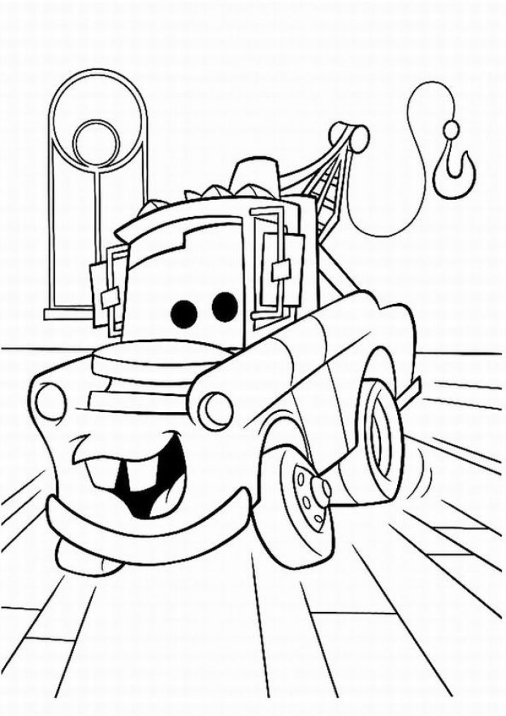 Disney cars coloring pages free coloring pages for kids for Free online coloring pages disney