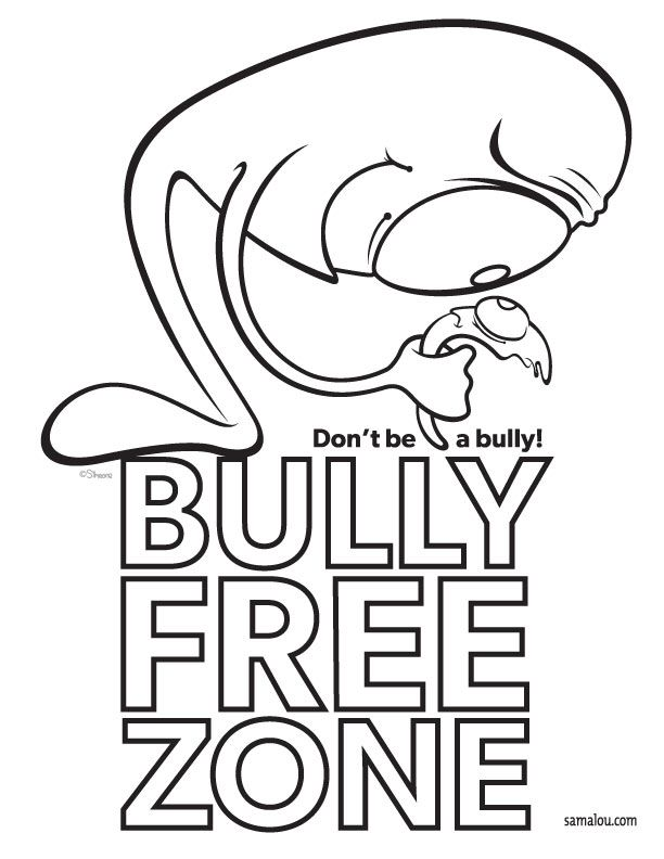 anti-bullying Colouring Pages (page 2)