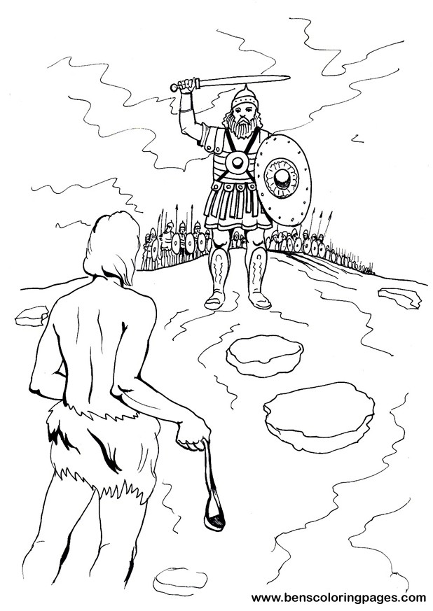 Bible Coloring Pages King David