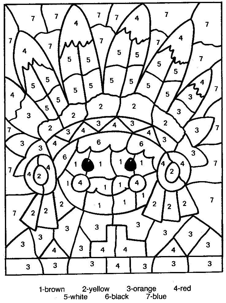Color By Numbers Coloring Pages For Kids