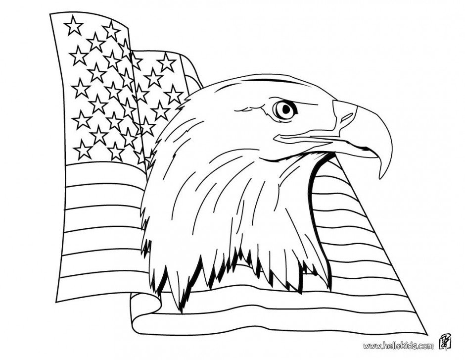 American Flag Coloring Page - AZ Coloring Pages