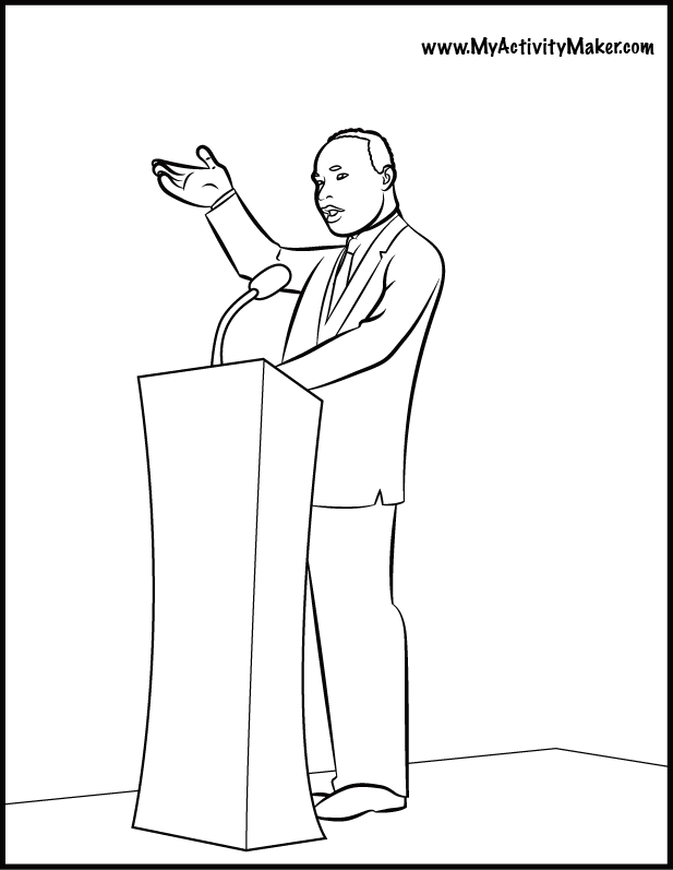 Martin luther king jr coloring page coloring home for Martin luther king jr coloring pages