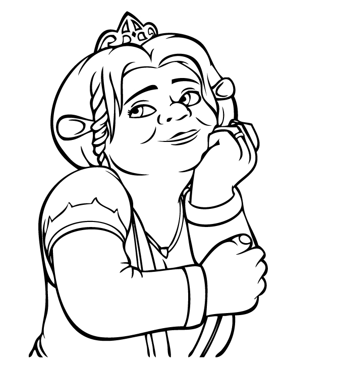 Shrek Cartoon Characters Az Coloring Pages