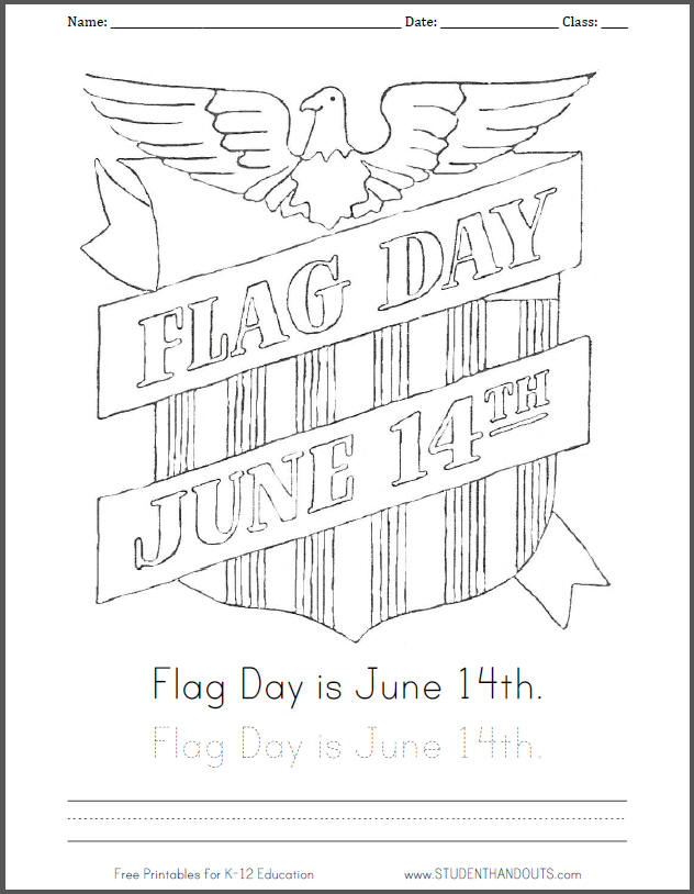 coloring pages for flag day - photo#6