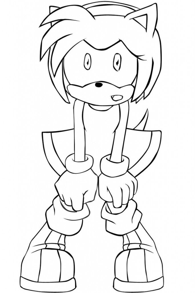 Sonic And Amy Coloring Pages - Coloring Home