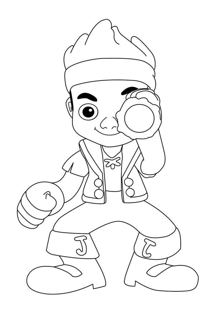 izzy jake and the neverland pirates coloring pages - free izzy neverland pirate coloring pages