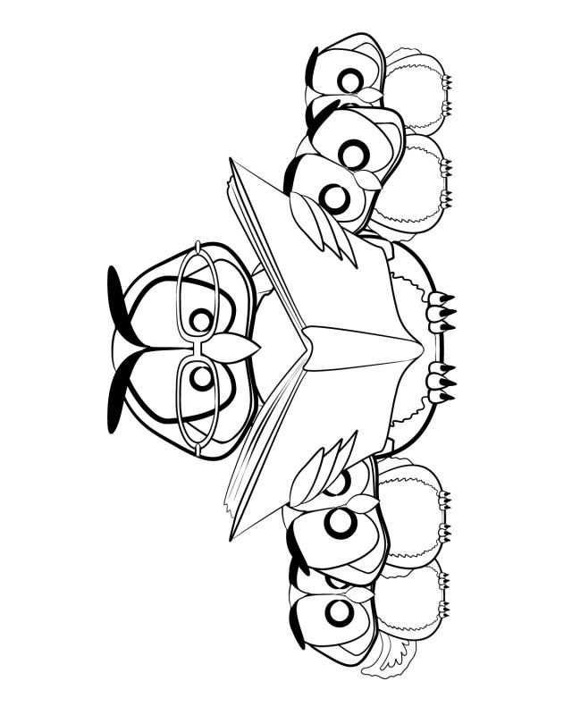 Owl family - Free Printable Coloring Pages