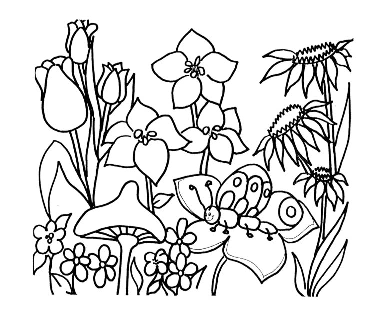 Preschool Spring Coloring Pages