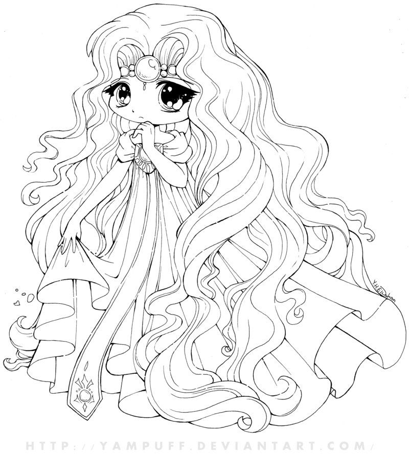 Anime Princess Coloring Pages - Coloring Home