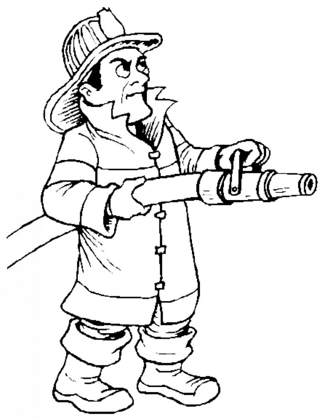 Fireman hat coloring page az coloring pages for Firefighter coloring pages printable