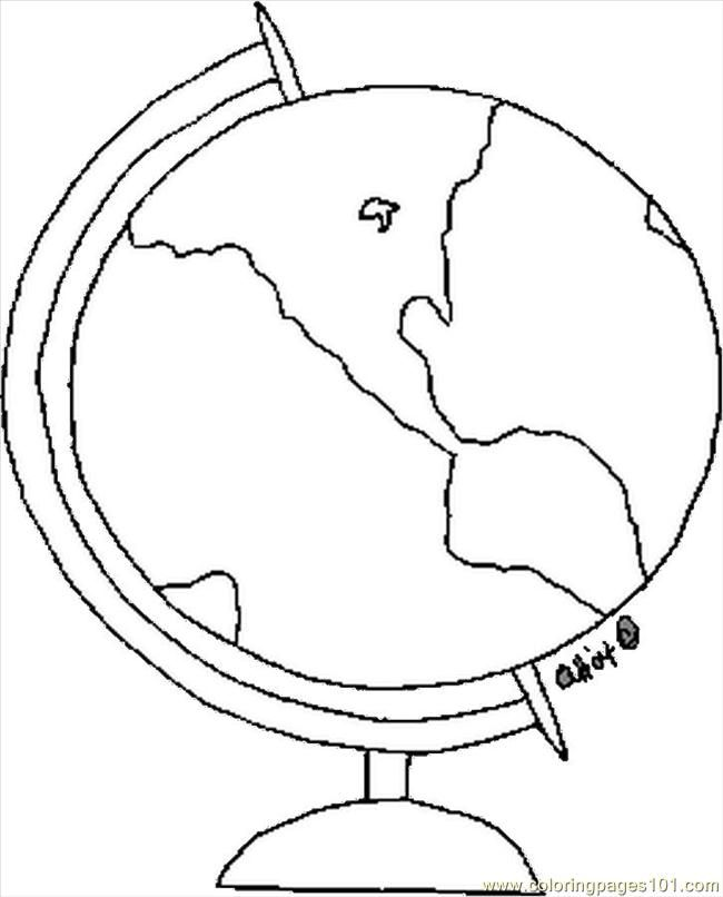 Coloring Pages Globe Education School