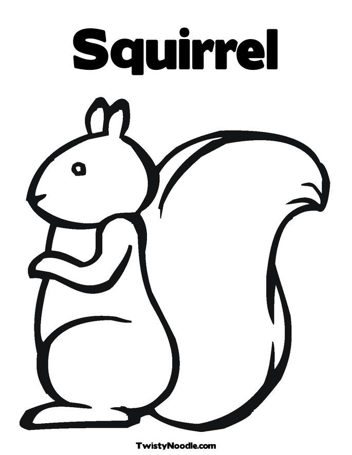 Squirrel Outline Colouring Pages - Coloring Home