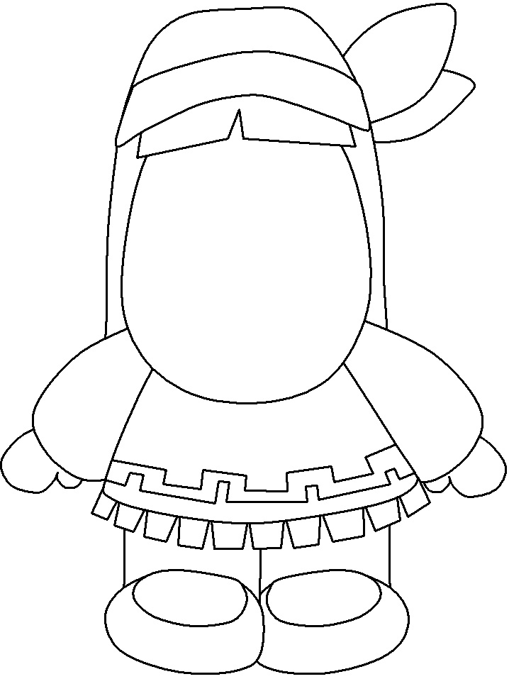 Printable Native American Coloring Pages #6