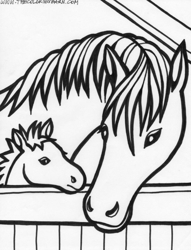 Horse Head Coloring Pages - Coloring Home