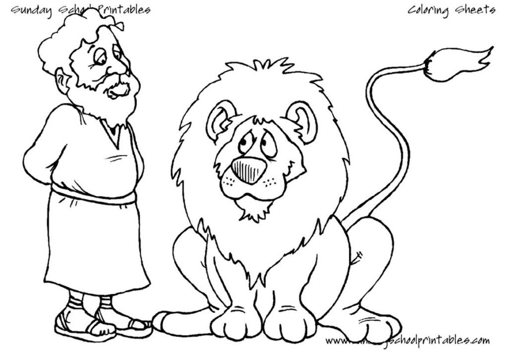 Daniel In The Lion S Den Coloring Pages