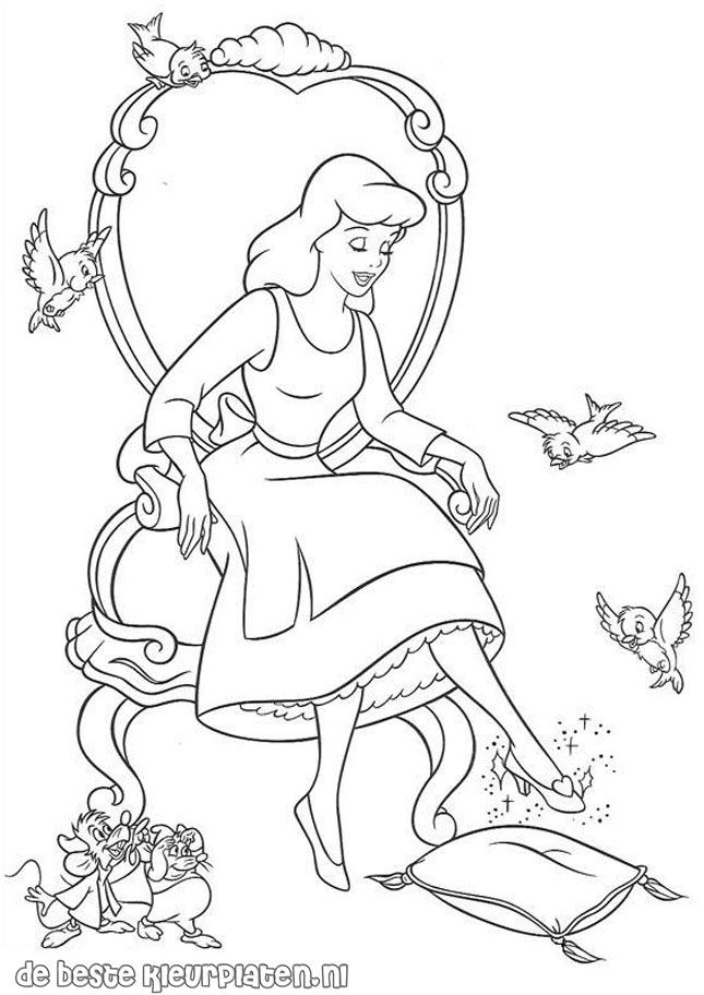 cinderella coloring pages to print  TimyKids