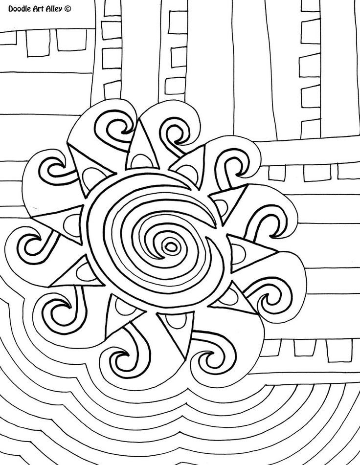 abstract coloring pages doodle art alley colouring pages