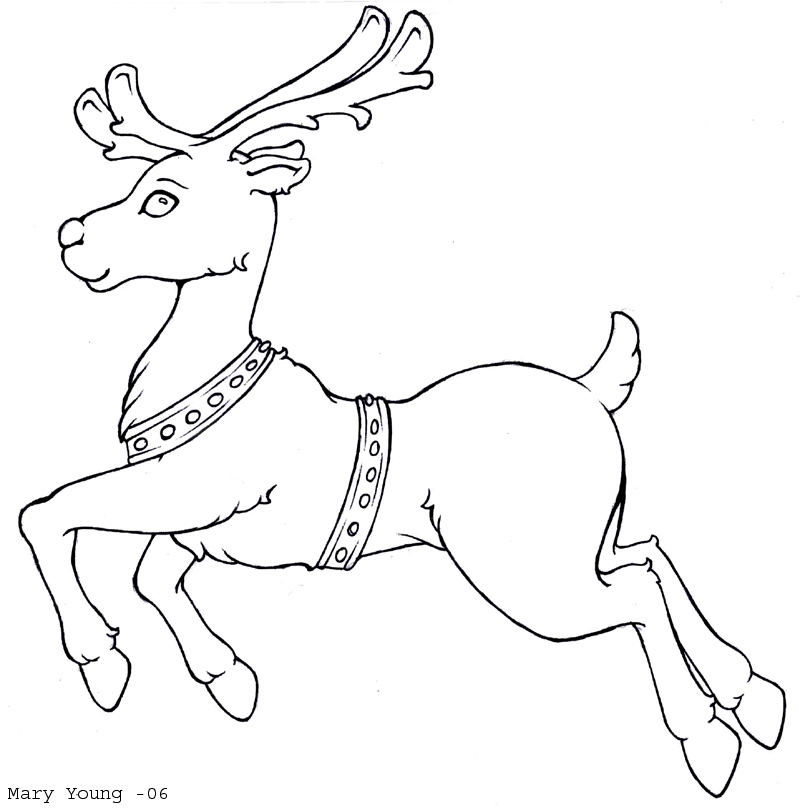Reindeer Coloring Pages - AZ Coloring Pages