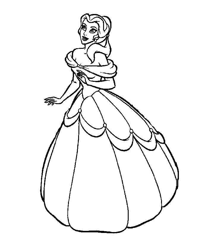 Princess Coloring Pages Spot : Disney princess coloring pages online az