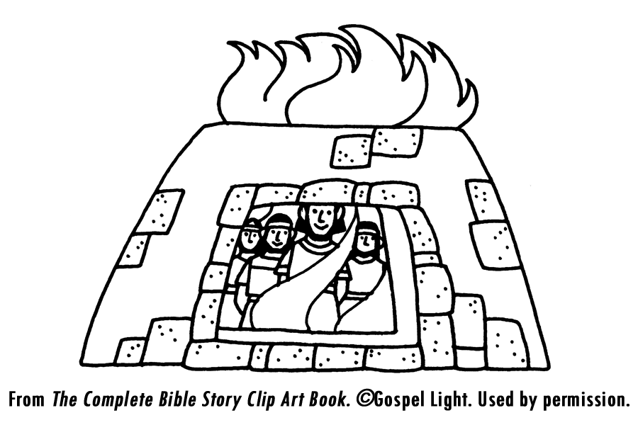 the fiery furnace coloring pages - photo#18