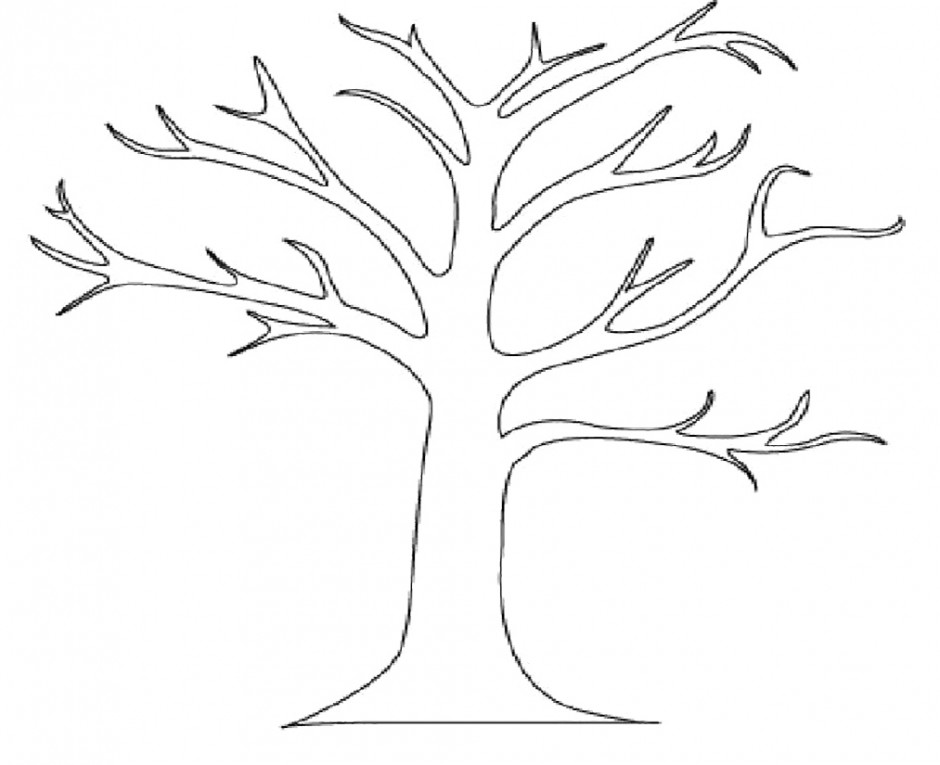 Outline Of Tree Az Coloring Pages Tree Without Leaves Coloring Page