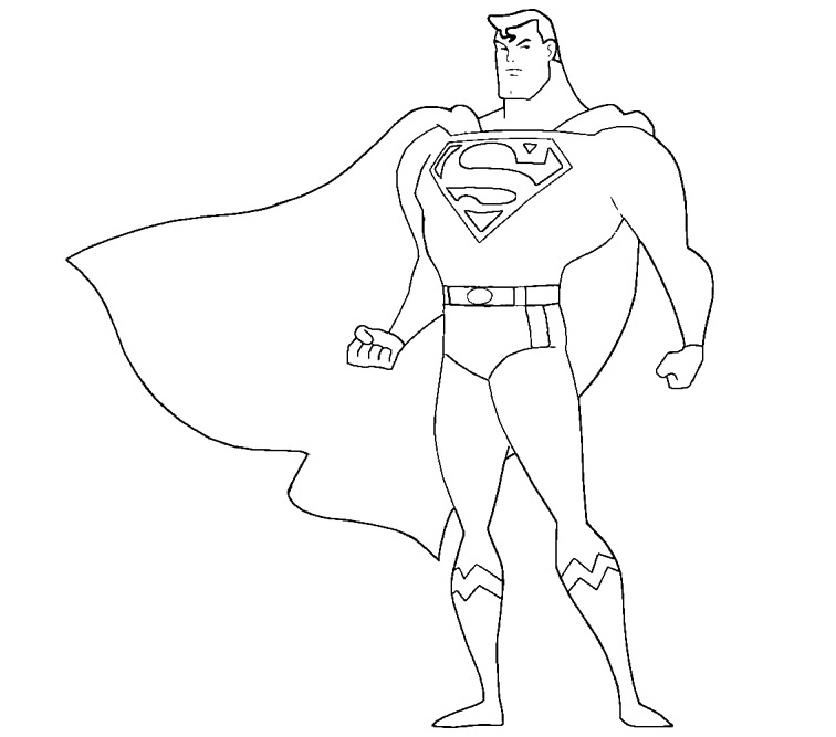 Superman coloring page az coloring pages for Super man coloring page