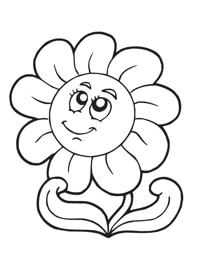 Cartoon Flower Coloring Home