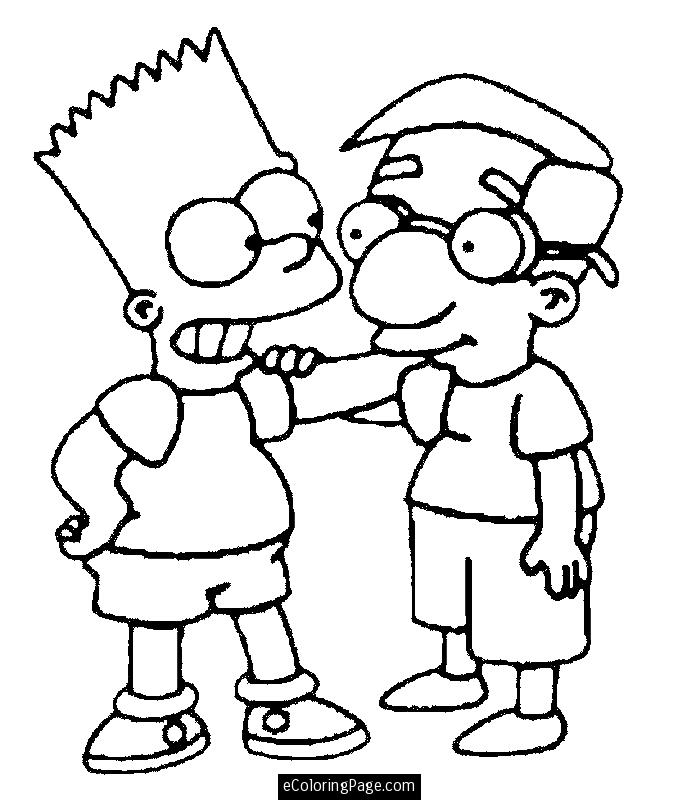 simpsons coloring pages to print az coloring pages Maggie Simpson Coloring Pages  Bart Simpson Coloring Pages Free
